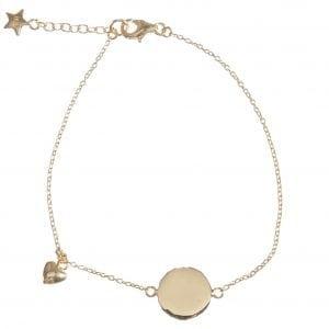 BETTY BOGAERS BRACELET BABY MUM B463 Gold Mum Heart Bracelet