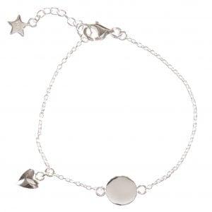 BETTY BOGAERS BRACELET BABY MUM B463 Silver Baby Heart Bracelet