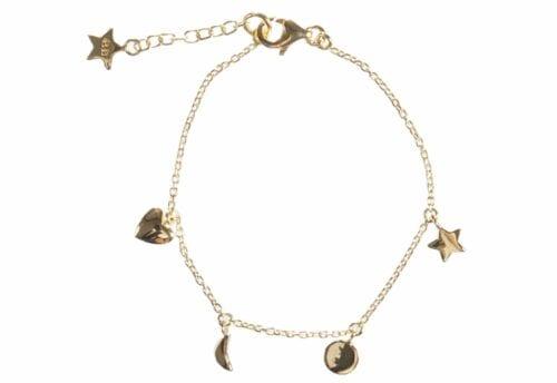 BETTY BOGAERS BRACELET BABY MUM B486 Gold Baby Little Charm Bracelet