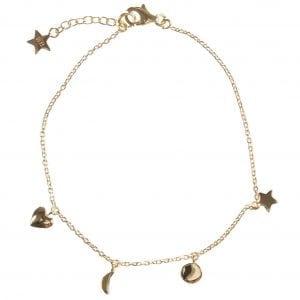BETTY BOGAERS BRACELET BABY MUM B486 Gold Mum Little Charm Bracelet