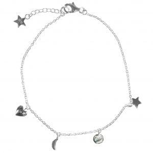 BETTY BOGAERS BRACELET BABY MUM B486 Silver Mum Little Charm Bracelet