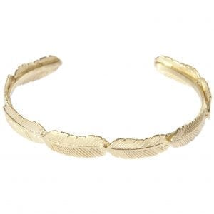 BETTY BOGAERS BRACELET FEATHER B472 Gold Feather Slave Bracelet
