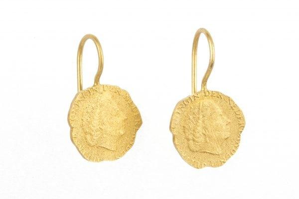BETTY BOGAERS EARRING CENT E19 Gold Ten Cent Earring