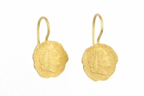 BETTY BOGAERS EARRING CENT E19 Gold Ten Cent Earring