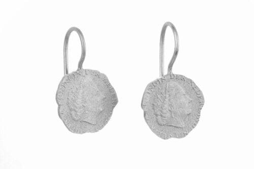 BETTY BOGAERS EARRING CENT E19 Silver Ten Cent Earring
