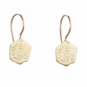 BETTY BOGAERS EARRING CENT E452 Gold Old Little Coin Earring