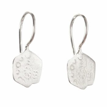 BETTY BOGAERS EARRING CENT E452 Silver Old Little Coin Earring