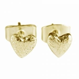BETTY BOGAERS EARRING LITTLE THINGS E408 Gold Small Heart Stud Earring