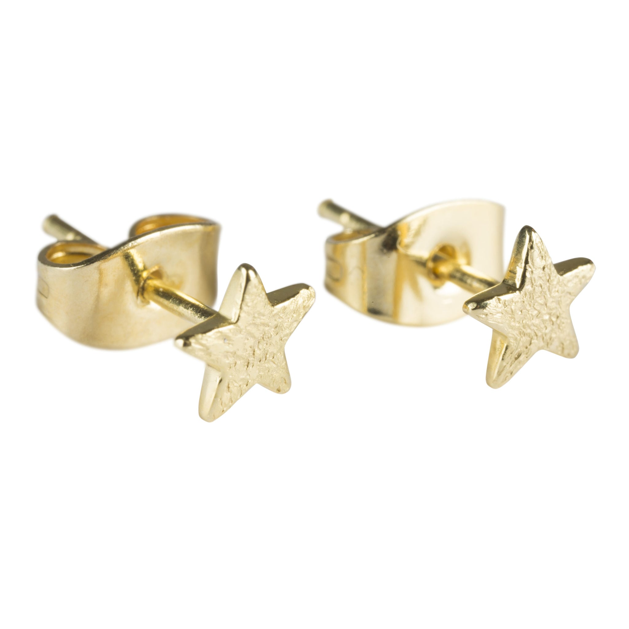 Small Star Stud Earring Gold Plated - Betty Bogaers