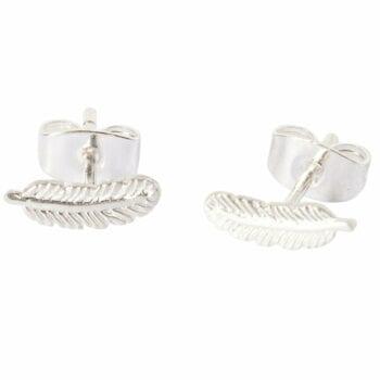 BETTY BOGAERS EARRING LITTLE THINGS E477 Silver Little Feather Stud Earring