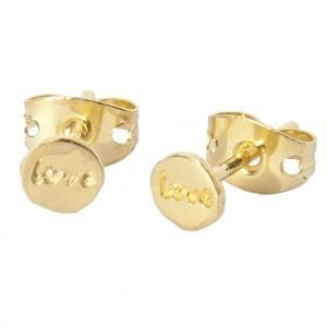 BETTY BOGAERS EARRING LITTLE THINGS E482 Gold Little Love Stud Earring