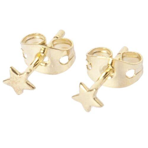 BETTY BOGAERS EARRING LITTLE THINGS E484 Gold Mini Star Stud Earring