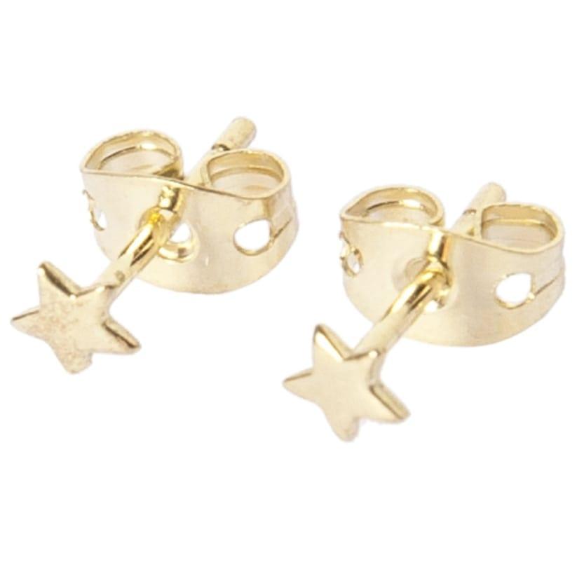Mini Star Stud Earring Gold Plated - Betty Bogaers