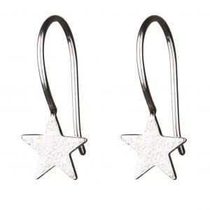 BETTY BOGAERS EARRING STAR E55 Silver Star Hook Earring