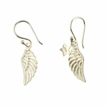 BETTY BOGAERS EARRING WINGS E77 Silver Wings Earring