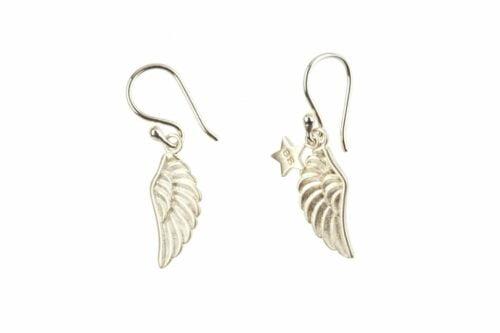 BETTY BOGAERS EARRING WINGS E77 Silver Wings Earring