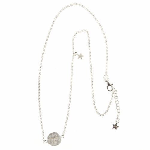 BETTY BOGAERS NECKLACE MESSAGE N12 Silver Short Lucky Me Necklace