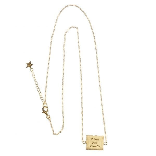 BETTY BOGAERS NECKLACE MESSAGE N470 Gold I Love you Sweetie Necklace
