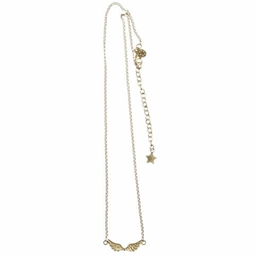 BETTY BOGAERS NECKLACE WINGS N62 Gold Short Wings Necklace