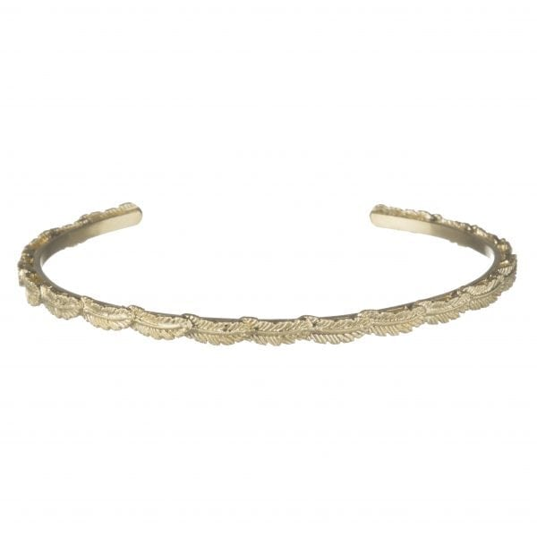 BETTY BOGAERS BRACELET FEATHER B520 Gold Mini Feather Cuff Bracelet 129,95