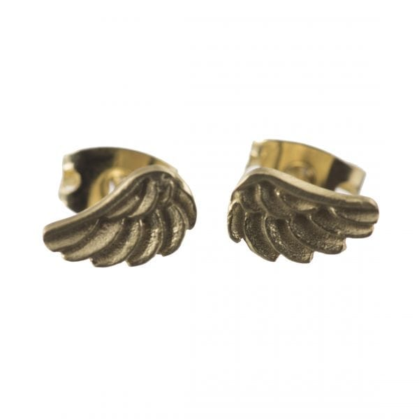 BETTY BOGAERS EARRING WINGS E539 Gold Wings Stud Earring 34,95