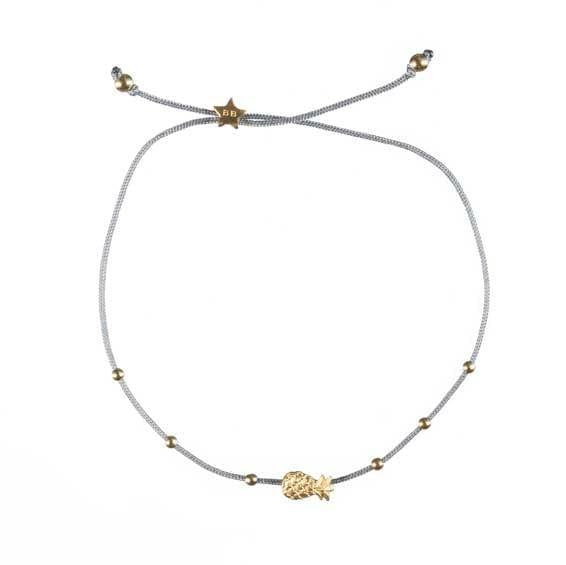 BETTY-BOGAERS-BRACELET-LITTLE-THINGS-B589-Gold--Little-Pineapple-Rope-Bracelet-BLUE-GREY-39,95