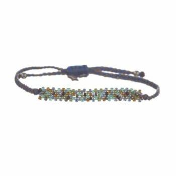 BETTY BOGAERS BRACELET TIGER INDIAN B578 Gold Color Beads Bracelet BLUE 39,95