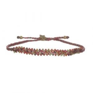 BETTY BOGAERS BRACELET TIGER INDIAN B578 Gold Color Beads Bracelet RED 39,95