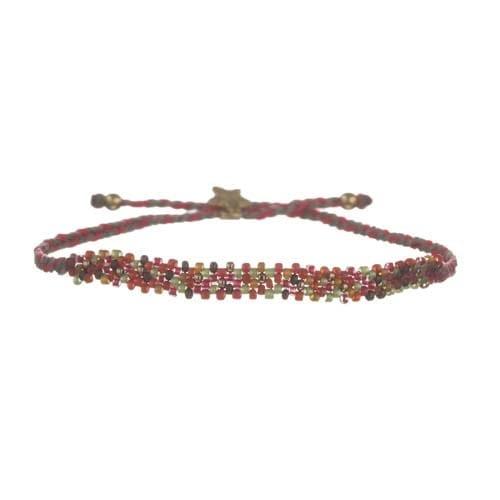 BETTY BOGAERS BRACELET TIGER INDIAN B578 Gold Color Beads Bracelet RED 39,95
