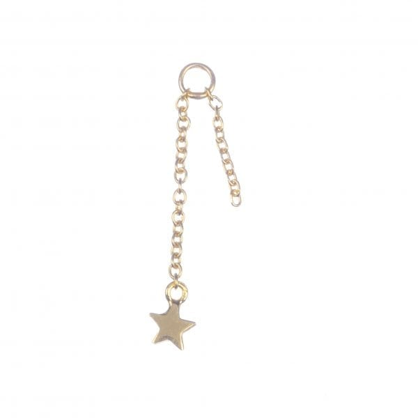 BETTY BOGAERS EARRING ADD ONS E601 Gold Addon For Stud Earring Chain Mini Star (per piece) 14,95