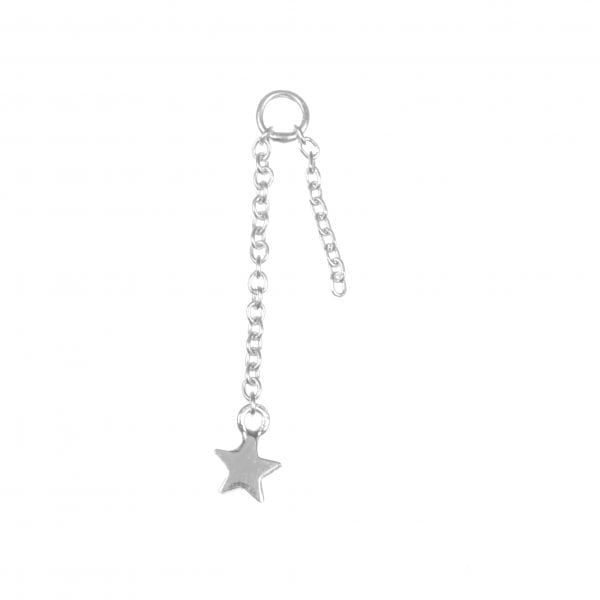 BETTY BOGAERS EARRING ADD ONS E601 Silver Addon For Stud Earring Chain Mini Star (per piece) 13,95