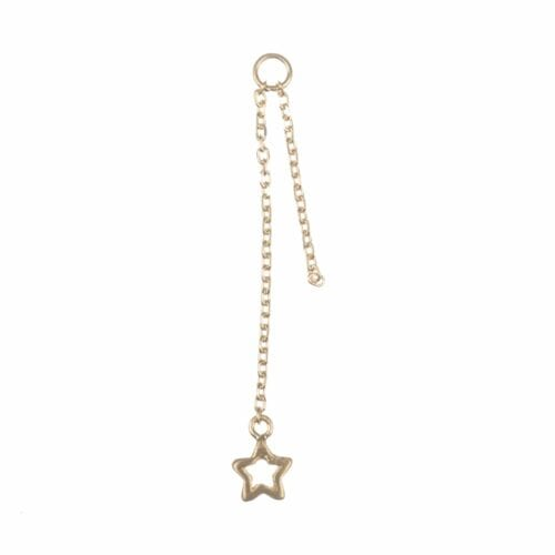 BETTY BOGAERS EARRING ADD ONS E602 Gold Addon For Stud Earring Double Chain Open Star (per piece) 14,95