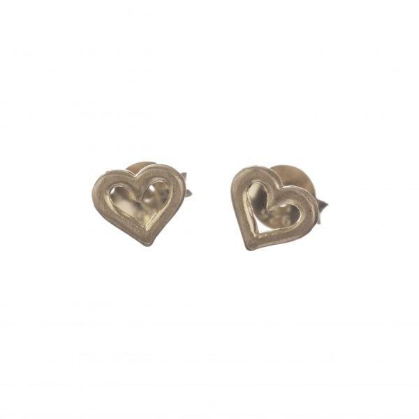 BETTY BOGAERS EARRING LITTLE THINGS E550 Gold Heart Open Stud Earring 24,95