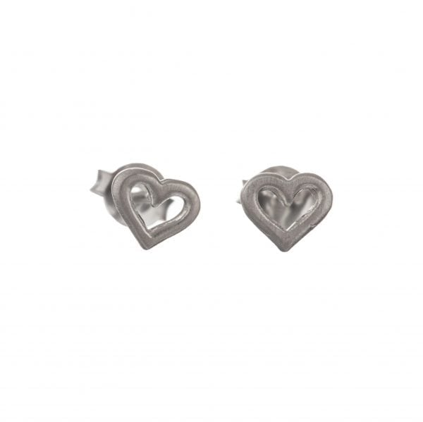 BETTY BOGAERS EARRING LITTLE THINGS E550 Silver Heart Open Stud Earring 22,95