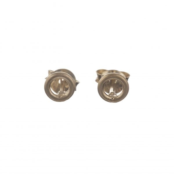 BETTY BOGAERS EARRING LITTLE THINGS E551 Gold Round Open Stud Earring 24,95