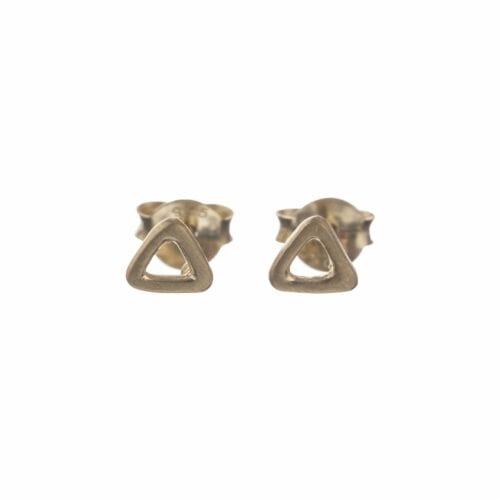 BETTY BOGAERS EARRING LITTLE THINGS E552 Gold Triangle Open Stud Earring 24,95