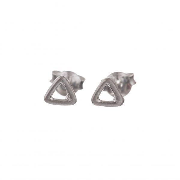 BETTY BOGAERS EARRING LITTLE THINGS E552 Silver Triangle Open Stud Earring 22,95