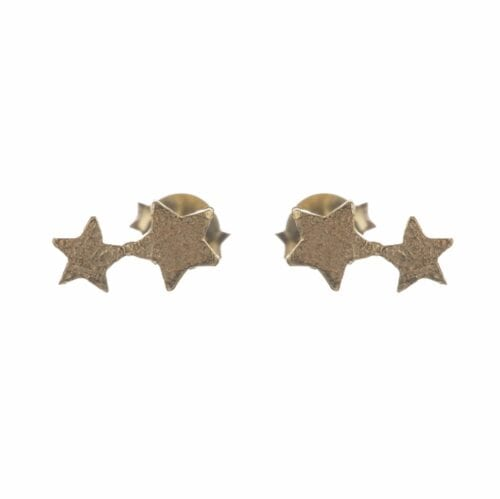 BETTY BOGAERS EARRING LITTLE THINGS E585 Gold Two Connected Star Earring 44,95