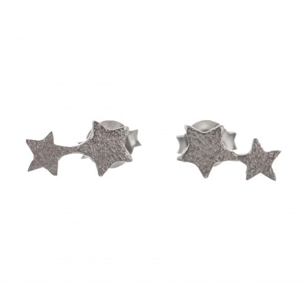 BETTY BOGAERS EARRING LITTLE THINGS E585 Silver Two Connected Star Earring 34,95
