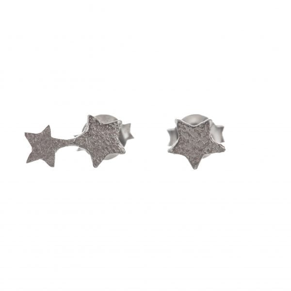 BETTY BOGAERS EARRING LITTLE THINGS E585a Silver Two Connected Star AND Small Star Earring 29,95