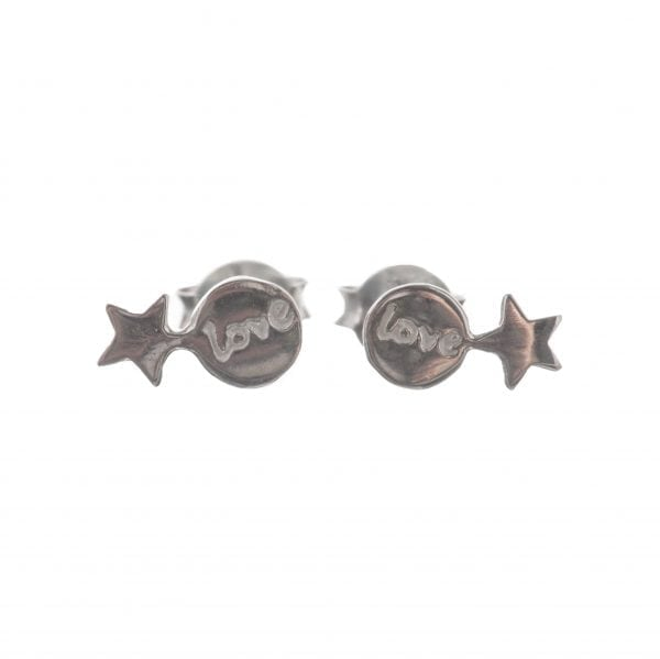 BETTY BOGAERS EARRING LITTLE THINGS E586 Silver Two Connected Star-Love Earring 34,95