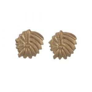 BETTY BOGAERS EARRING TIGER INDIAN E570 Gold Mini Indian Stud Earring 34,95