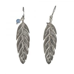 BETTY BOGAERS EARRING TIGER INDIAN E574 Silver Indian Feather Earring 69,95