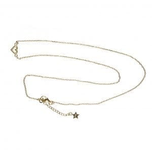 BETTY BOGAERS NECKLACE LITTLE THINGS N550 Gold Heart Open Stud Chain Necklace 74,95