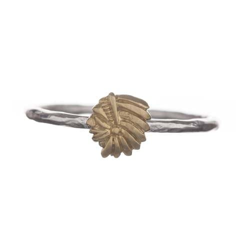 BETTY BOGAERS RING TIGER INDIAN R570 Gold Indian Ring (met indianenkopje) 34,95