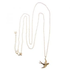 BETTY BOGAERS NECKLACE WINGS N611 Gold Swallow Bird Necklace (50 cm) 89,95