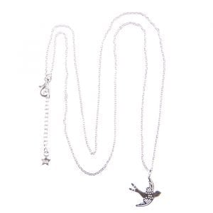 BETTY BOGAERS NECKLACE WINGS N611 Silver Swallow Bird Necklace (50 cm) 79,95