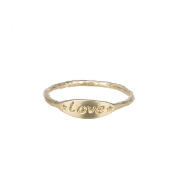 BETTY BOGAERS RING MESSAGE R608 Gold Mini Love Ring 44,95