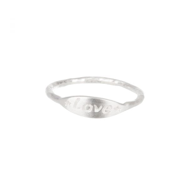 BETTY BOGAERS RING MESSAGE R608 Silver Mini Love Ring 34,95
