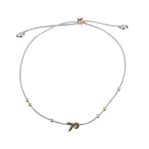 BETTY BOGAERS BRACELET FUN B616 Gold Bunny Rope Bracelet BLUE GREY 39,95
